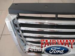 08 thru 10 Explorer OEM Genuine Ford Chrome Grille witho Emblem XLT & Limited