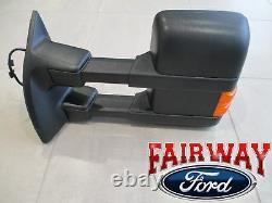 09 thru 12 Super Duty OEM Genuine Ford Full Power Trailer Tow Mirror LH Driver
