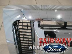 09 thru 14 F-150 OEM Genuine Ford Chrome 3-Bar Grille Grill with Emblem NEW