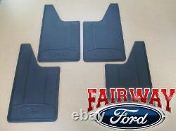 11 thru 14 F-150 OEM Genuine Ford Heavy Duty Splash Guards Mud Flaps 4-pc Set