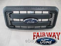 11 thru 16 Super Duty F250 F350 F450 OEM Genuine Ford Black Grille with Emblem