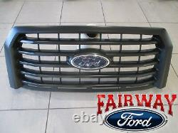 15 thru 17 F-150 OEM Genuine Ford Body Color Paintable Grille Grill with Emblem