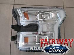 15 thru 17 F-150 OEM Genuine Ford Chrome LED Head Lamp Light Left Driver NEW