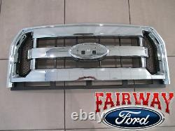 15 thru 17 F-150 OEM Genuine Ford Parts Chrome and Mesh Grille Grill witho Camera