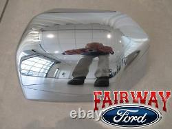 15 thru 20 F-150 OEM Genuine Ford Parts Chrome Mirror Cover Skull Cap Set of 2