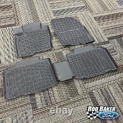 16 thru 21 Edge OEM Genuine Ford Tray Style Molded Black Floor Mat Set 4-pc NEW