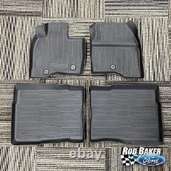 17 thru 19 Explorer OEM Genuine Ford Tray Style Molded Black Floor Mat Set 4-pc