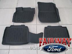 17 thru 20 Fusion OEM Genuine Ford Tray Style Molded Black Floor Mat Set 4-piece