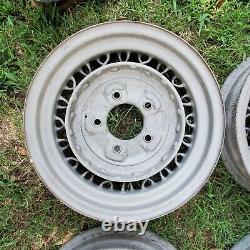 1935 Ford 16 Kelsey Hayes WIRE BENT SPOKE WHEELS Flathead 1932 Hot Rod Rat TROG