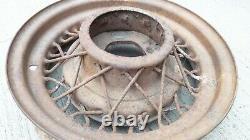 1935 Ford 16 Kelsey Hayes WIRE SPOKE WHEELS Original flathead deluxe 5 lug pair