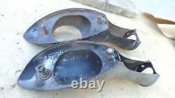1936 Ford TAIL LIGHT STANDS Original pair Left Right Accessory coupe sedan