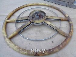 1954 Ford Deluxe STEERING WHEEL with HORN RING Original Accessory