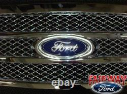 2009 thru 2014 F-150 OEM Genuine Ford Parts Chrome Mesh Grille withEmblem NEW