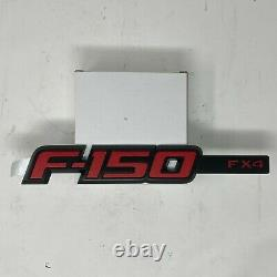 2009 thru 2014 Ford F-150 OEM Genuine RED FX4 Fender & Tail Gate Emblem Set 3pcs
