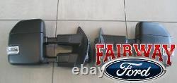2021 F-150 OEM Genuine Ford Power Trailer Tow Mirrors Manual Fold No Camera/BLIS