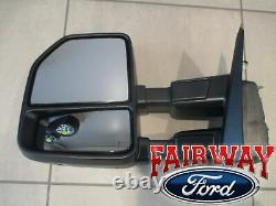 2021 F-150 OEM Genuine Ford Power Trailer Tow Mirrors Manual Fold with Camera BLIS