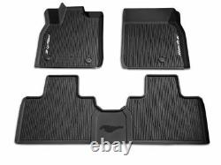 2021 Mustang Mach-E OEM Genuine Ford Tray Style Molded Black Floor Mat Set 3-pc