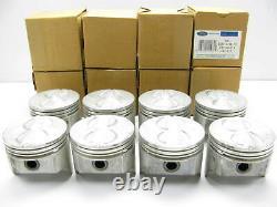 (8) GENUINE OEM Ford E6TZ-6108-FB Pistons 0.040 Over Size Ford 302 5.0L V8