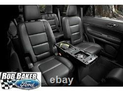 Black 11 18 Explorer OEM Genuine Ford 2nd Row Storage Console Charcoal/Pebble