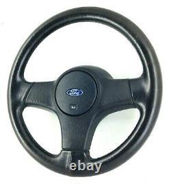 Genuine OEM Ford RS Sierra Sapphire Cosworth leather steering wheel. 15B