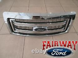 09-14 Ford F150 Oem D'origine Ford 2 Bar Grill Grille Chrome Withemblem Nouveau