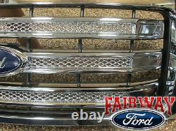 09-14 Ford F150 Oem D'origine Ford 3 Bar Grill Grille Mesh Chrome Withemblem
