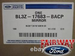11 Thu 14 F-150 Oem Véritable Ford Alimentation Réglable Verre Noir Lh Pilote Miroir