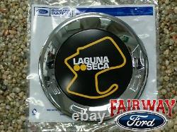 13 À 14 Mustang Laguna Seca Jaune Oem Véritable Ford Faux Bouchon De Gaz De Carburant Emblem