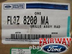 15-17 F-150 Oem D'origine Ford Luxe Grille Mesh Platinum Chrome Grill
