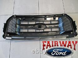 15 À 17 F-150 Oem Genuine Ford Moled Carbon Black Grille Grill Grill Avec Emblem New