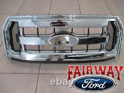 15 À 17 F-150 Oem Genuine Ford Parts Chrome Et Mesh Grille Grill Witho Camera