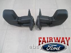 15 À 17 F-150 Oem Véritable Ford Manuel Télescopique Remorque Tow Mirrors Pair