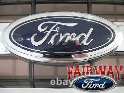 15 À Travers 17 F-150 Oem Genuine Ford Chrome Et Mesh Grille Grill Avec Emblem New