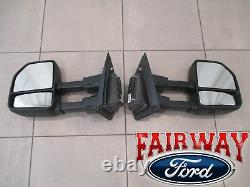 15 À Travers 20 F-150 Oem Genuine Ford All Manual Telescopic Trailer Tow Mirrors Paire