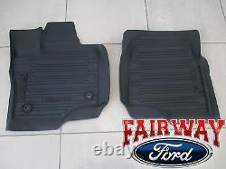 15 À Travers 20 F-150 Oem Genuine Ford Tray Style Molded Floor Mat Set 3-pc Crew Cab