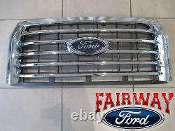 15 Thru 17 F-150 Oem Véritable Ford Chrome 5-bar Grille Grill Avec Appareil Photo Avec Emblem