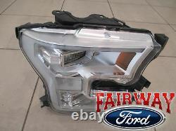 15 Thru 17 F-150 Oem Véritable Ford Chrome Lampe De Tête Led Lumière Rh Passager Nouveau
