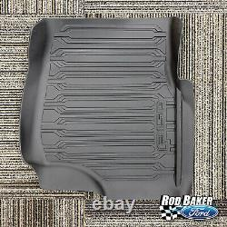 15 Thu 20 F-150 Oem Véritable Chariot Ford Style Molded Floor Mat Set 3-pc Crew Cab