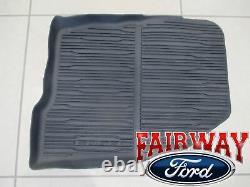 16 À Travers 21 Edge Oem Genuine Ford Tray Style Molded Black Floor Mat Set 4-pc Nouveau