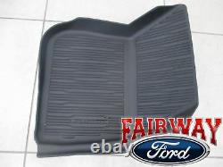 17 À 20 Fusion Oem Genuine Ford Tray Style Molded Black Floor Mat Set 4 Pièces