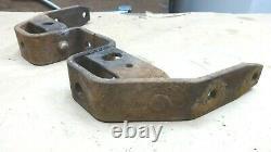 1935 1936 Ford Rear Bumper Bracket Mounts Extensions Paire D'origine Boulon À Cadre