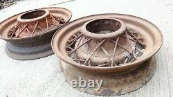 1935 Ford 16 Kelsey Hayes Wire Spoke Wheels Original Flathead Deluxe 5 Lug Paire