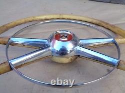 1954 Ford Deluxe Volant Avec Horn Ring Accessoire Original