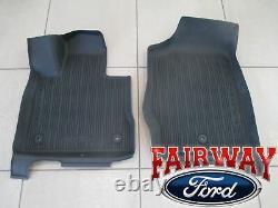 20 À Travers 21 Explorer Oem Véritable Ford Tray Style Molded Floor Mat Set 4-pc Nouveau