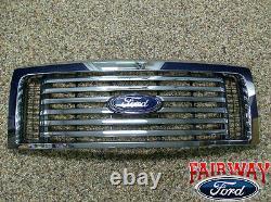 2009-2014 F-150 Oem D'origine Ford Parts Chrome Billettes Grille Withemblem Nouveau