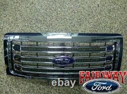 2009-2014 F-150 Oem D'origine Ford Parts Chrome Lariat Grille Avec Emblème Nouveau