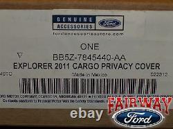 2011 À 2019 Explorer Oem Genuine Ford Parts Black Cargo Security Shade New