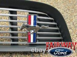 2013 À 2014 Mustang Oem Genuine Ford Billet Stainless Grille Grill Avec Emblème