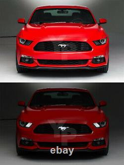2015-2017 Véritable Ford Mustang Grille Light Up Chrome Running Horse Pony Emblem