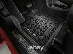 2021 Mustang Mach-e Oem Véritable Chariot Ford Style Molded Noir Tapis De Sol Ensemble 3-pc